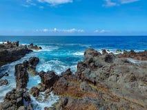 Città di Punta Brava sull'isola di Tenerife fotografia stock libera da diritti