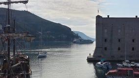 Città di Ragusa e della parete, Croazia Immagini Stock Libere da Diritti