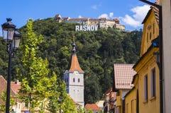 Città di Rasnov immagini stock