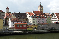 Città di Regensburg Immagini Stock Libere da Diritti
