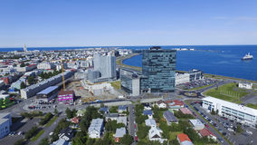 Città di Reyjavik fotografia stock libera da diritti