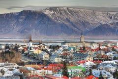 Città di Reykjavik Fotografie Stock Libere da Diritti