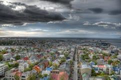 Città di Reykjavik fotografia stock