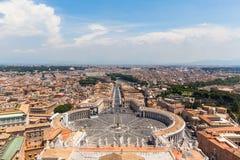 Città di Roma e del Vaticano Fotografia Stock Libera da Diritti