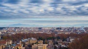 Città di Roma Rivestimenti di tempo Città di lasso di tempo di Roma video d archivio