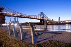 Città di Roosevelt Island River Walk New York Fotografie Stock