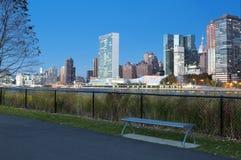 Città di Roosevelt Island River Walk New York Immagini Stock Libere da Diritti