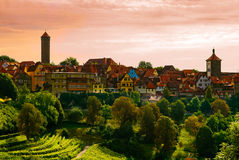 Città di Rothenburg Immagine Stock