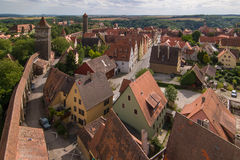 Città di Rothenburg Fotografie Stock