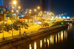 Città di Saigon, vista di notte Fotografie Stock Libere da Diritti