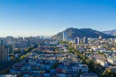 Città di Santiago nel Cile fotografia stock libera da diritti