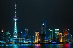 Città di Schang-Hai Fotografie Stock Libere da Diritti