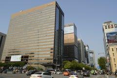 Città di Seoul del centro Fotografie Stock Libere da Diritti