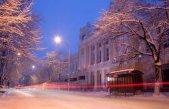 Città di sera Fotografie Stock