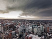 Città di Sheffield fotografie stock libere da diritti