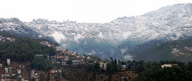 Città di Shimla sotto neve Immagini Stock