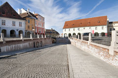Città di Sibiu, Romania Fotografie Stock Libere da Diritti