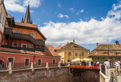 Città di Sibiu, Romania Immagini Stock Libere da Diritti