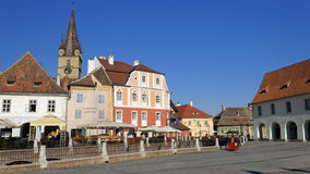 Città di Sibiu in Romania Fotografie Stock Libere da Diritti