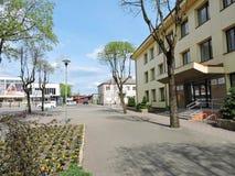 Città di Silale, Lituania fotografie stock