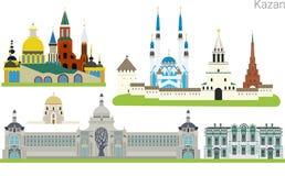 Città di simboli di Kazan Immagine Stock