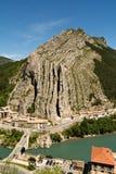 Città di Sisteron da sopra Fotografia Stock