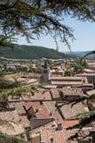 Città di Sisteron da sopra Fotografie Stock Libere da Diritti