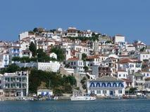 Città di Skopelos Fotografie Stock Libere da Diritti
