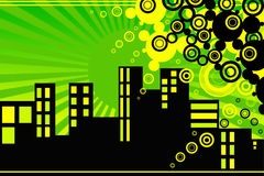 Città di sogno Vektor Immagini Stock