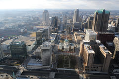 Città di St. Louis Missouri fotografie stock libere da diritti