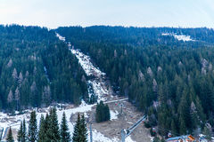 Città di stazione sciistica cattivo Gastein in montagne nevose di inverno, Austria, terra Salisburgo Fotografia Stock Libera da Diritti