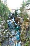 Città di stazione sciistica cattivo Gastein in montagne nevose di inverno, Austria, terra Salisburgo Fotografia Stock