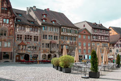 Città di Stein am Rhein fotografia stock libera da diritti