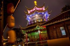 Città di Suzhou alla notte in Cina Fotografia Stock Libera da Diritti