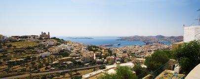 Città di Syros Immagine Stock Libera da Diritti