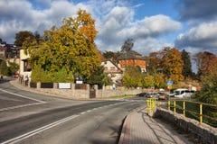 Città di Szklarska Poreba in Polonia fotografia stock libera da diritti