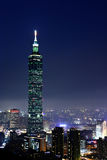 Città di Taipeh alla notte immagine stock libera da diritti