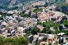 Città di Taormina, Sicilia Fotografie Stock