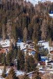 Città di Tavate in Svizzera nell'orario invernale Immagini Stock