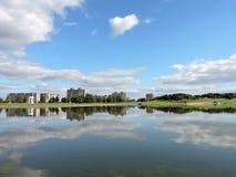 Città di Telsiai, Lituania Immagine Stock Libera da Diritti