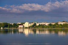 Città di Ternopil Fotografia Stock