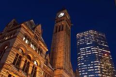 Città di Toronto alla notte Fotografia Stock