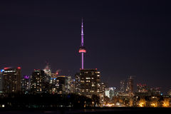 Città di Toronto alla notte Fotografie Stock