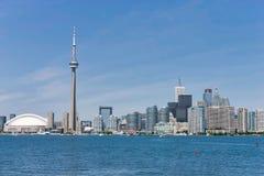 Città di Toronto e torre del CN fotografie stock