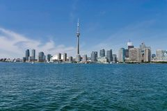 Città di Toronto e torre del CN fotografia stock