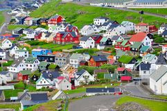 Città di Torshavn, isole faroe immagini stock libere da diritti