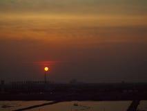 Città di tramonto Immagini Stock