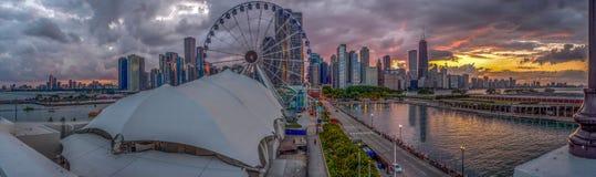 Città di tramonto Fotografie Stock Libere da Diritti