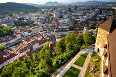 Città di Transferrina, Slovenia fotografia stock libera da diritti