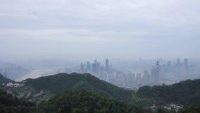 Città di trascuratezza della nebbia - Chongqing archivi video